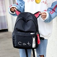 Women Backpack Cute Ear School Bags For Teenage Girls Canvas...