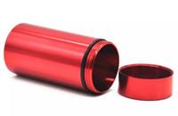 Водонепроницаемые курительные ручные инструменты Металлическая ступенька Часовой корпус Контейнеровоз-воздушные бутылки для хранения бутылки из алюминиевого таблетка для табака