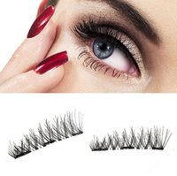 3 Magnetic Eyelashes 3D Handmade False Eyelashes Mink Reusab...