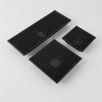Schwarz SUS 304 Edelstahl Duschablauf Bad Bodenablauf Flieseneinsatz Quadrat Anti-Geruch Boden Abfall Roste 110-300 MM