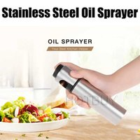 Silver Stainless Steel Oil Sprayer Olive Pump Spraying Oil B...