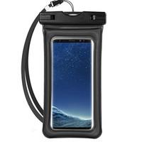 유니버설 에어백 핸드폰 방수 건조한 가방 삼성 전자 아이폰에 대한 끈 및 터치 스크린 기능과 수중 전화 파우치 195mm * 105mm