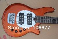 Venta caliente Active Pickup Musicman Bongo Orange 5 cuerdas bajo eléctrico Music Man Bass envío gratis