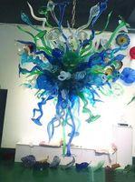 Lampade a sospensione Lampadari di moda Morning Glory Flower Chandelier Blown Glass Blown Illuminazione indoor Modern Pendant-Lighting