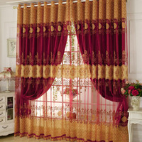 Luxury Window Curtains Beaded For Living Room Tulle + Blackou...