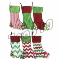New Party Supplies Christmas stockings gift bag 6 styles emb...