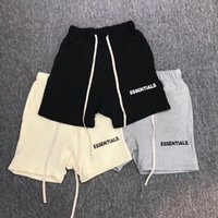 Migliore versione Fear Of God Essential Collection Stampato Donna Uomo Pantaloncini Jogging Hiphop Streetwear FOG Uomo Shorts Coulisse