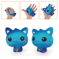 Galaxy Cat Squishy Blue Kitty Squishies Kawaii Slow Rising P...