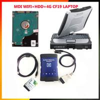 Auto scanner GM MDI wifi hdd e laptop CF19 con 500g hdd interfaccia diagnostica mdi Strumento diagnostico con multi-lingua gm mdi scanner