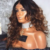 1b 30 Ombre Lace Wig Loose Wavy Ombre Human Hair Wig Brazili...