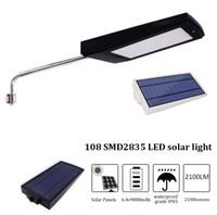 Umlight1688 최저 168 개의 LED 2100LM 태양 전원 레이더 모션 센서 벽 빛 야외 방수 에너지 절약 램프 거리 마당 경로 정원
