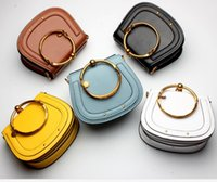 Fashion Cross Body Bags Metal Anillo Real Leahter Hombro Crossbody Bags 2018 Nuevas mujeres con estilo Genuine Leather Fashion Purse High Quality