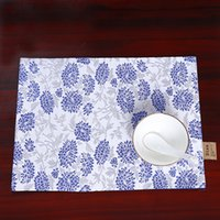 Latest Luxury Plate Chinese Silk Placemat Bowl Floral Dining...