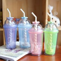 Portable Ice Cup Juice Water Bottle Summer Colorful Cool Ice...