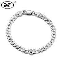 WK Genuine 925 Sterling Silver Bracelet Men Male Boys Hiphop...