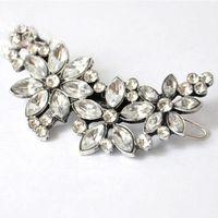 10 adet Yeni Varış Kadın Düğün Retro Kristal Rhinestone Çiçek Kafa Tokalar Düğün Saç Klip Sıcak Ucuz Hediye