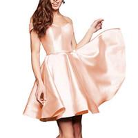 Sexy Sweetheart Short Homecoming Dresses Red Satin Graduation Dress Prom Dresses Lace Up Abiti da cocktail Mini abiti da sera