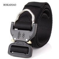 BOKADIAO men canvas belt Quick release Metal buckle Hook  ny...