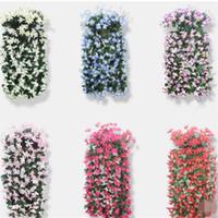 2pcs Lily Artificial Hanging Flower Vine Inverno Jasmine Flower Vines Plastic Rotins Para Casa Partido decorações de casamento