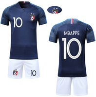 Boy Soccer Short Sleeve 2018 France 2 Stars Training MBAPPE ...