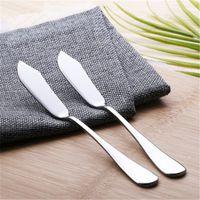 Посуда из нержавеющей стали столовые приборы нож для масла сыр десерт Джем разбрасыватель завтрак инструмент LX0516