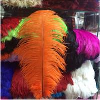 100 pz Per lotto 10-12 pollici White Ostrich Feather Plume Craft Supplies Wedding Party Centrotavola Decorazione Spedizione Gratuita