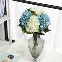 인공 꽃 실크 수국 가짜 꽃 파티 홈 데코레이션 테이블 중앙 장식 웨딩 장식 가짜 꽃 한 줄기 신부 꽃다발