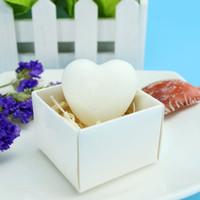 FEIS الجملة شخصية مصنوعة يدويا الصابون الأبيض على شكل قلب الصابون زفاف لصالح هدايا الزفاف استحمام الطفل الأبيض أسلوب الحب