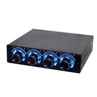 Four Channel Turn Knob Multi- Fan Cooling Controller Front Pa...