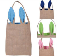 Wholesale canvas favor bags buy cheap canvas favor bags from easter gift bags bunny rabbit ears bag linen canvas storage bags burlap rabbit easter basket christmas party gifts cca8777 100pcs negle Choice Image