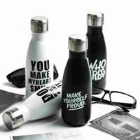 Voiture Coke Waters Bouteilles Bowling Isolation Tasses Bouilloires En Acier Inoxydable Avec Couvercle Bouteille D'eau Anti-Fuite Bouilloire Black Fashion