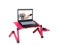 Homdox Computer-Schreibtisch tragbarer verstellbarer faltbaren Laptop Notebook Lap PC Folding Schreibtisch Tisch gelüftete Standplatz-Bett-Behälter