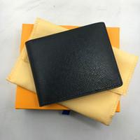 أسود جلد طبيعي محفظة السفر لرجل كلاسيكي مصمم فاخر حامل بطاقة الائتمان محفظة 2018 القادمون الجدد الأزياء بطاقة الهوية حالة محافظ