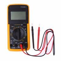 Lcd الرقمية المتر فاحص ac dc الفولتميتر مقياس التيار الكهربائي أمبير أمبير المقاومات أوم متر multitester الكهربائية