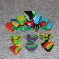 Triangle Silicone Wax Container Glass Oil Shatter 1.5ml Silicon Dab Pots Sec Herbe Concentré Butane Hash silicone bong pipe à eau