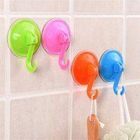 Home Utility Gadgets Colored Suction Hooks Plastic Soft Adhe...
