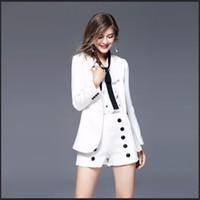 Abiti da donna Blazer Un bottone Blazer Feminino Plus Size Ufficio Abbigliamento Bianco Vintage Casual Giacche Coreane Cappotto Donne Cappotto KC5C054