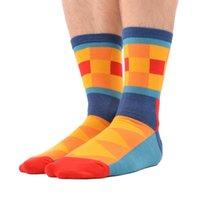Sanzetti 5 пар / лот мужские яркие смешные красочные случайные хлопчатобумажные носки с бриллиантами в полоску сумасшедшие платья носки ну вечеринку новогодний подарок горячая распродажа