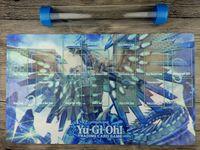YuGiOh Blue-Eyes Caos MAX Dragão Custom Playmat Master regra 4 Zonas Free Tube Frete Grátis para o recebimento de malas.