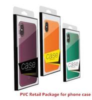 Universal PVC pacote de varejo embalagem caixa de caixas plásticas para iphone X telefone 9 8 7 6 mais 5,8 6,1 6,5 polegadas Caso NO inserção DHL
