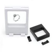 nero bianco sospeso vetrine espositive scatola gioielli monete gemme manufatti stand supporto moda vendita calda