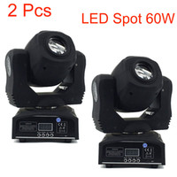 2 Pcs 60 w Led Spot Light 7 Gobos Moving Head Light DMX 9/11 Canais Light / Master-Slave / Auto Run / Sound Controller Fast Shipping