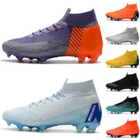 New Mens Soccer Cleats Superflyx 6 Elite TF Football Boots O...