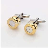 Лептон пуля запонки для мужчин золотой цвет пуля дизайн запонки мужчины свадьба жених рубашка манжеты запонки Relojes gemelos