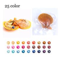 2018 Akoya Kırmızı kabuk 6-8mm Yuvarlak Inci Variety İyi Renk Aşk Dilek Inci Deniz Suyu Istiridyeler Bireysel Vakum Paketi Moda Trendi Hediye