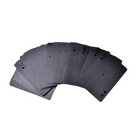 Limited Edition Plastikspielkarte Sammlung Black Diamond Poker Karten Kreatives Geschenk Standard Spielkarte wasserdicht schwarz