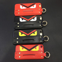 Cartoon Small Demon Wrist Strap PC Phone Shell for iPhone X ...