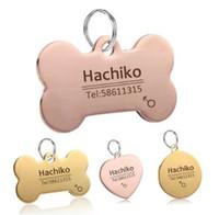 YVYOO Dog Pet Cat Accessori collare per cani Decorazione Incisione gratuita personalizzata Pet ID Tag Collari in acciaio inox Cat tag BB