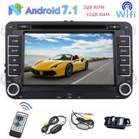 """더블 딘 7 """"안드로이드 7.1 자동차 DVD 스테레오 블루투스 GPS 네비게이션 폭스 바겐 폭스 바겐 골프 / 제타 / 파사 트 / 폴로 / Touran / Tiguan / Skoda Headunit"""