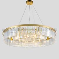 Extravagante Moderno Simple Ronda de Cristal Lámparas de Araña Lámpara Colgante de Iluminación de Europa del Norte Para Restaurante Dormitorio Lámparas Sala de estar